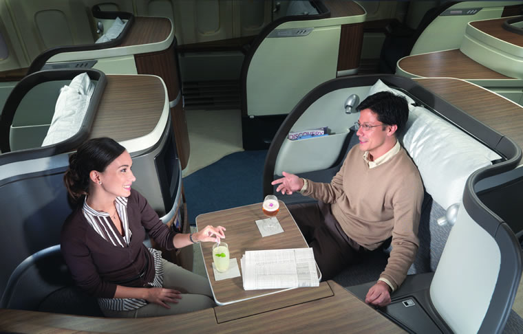 Cathay Pacific First Class with massaging seats